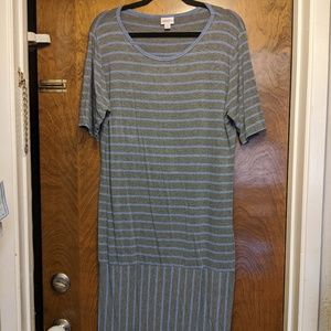 LuLaRoe Julia Dress - 3XL